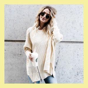 ❗️NEW❗️Divine Zipper Sweater In Cream